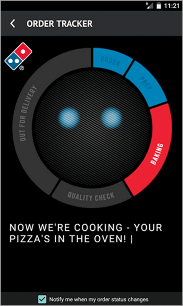 Order Tracker for customer loyalty gamification