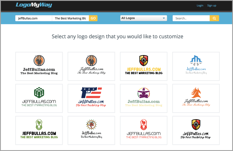 Professional Logo for your Brand from LogoMyWay for brand identity