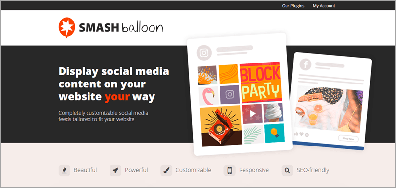 SmashBalloon WordPress plugin to embed Instagram feed