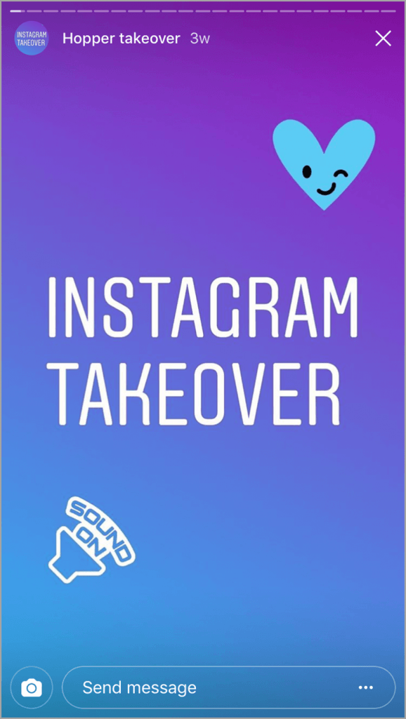 Instagram Takeover for Instagram stories