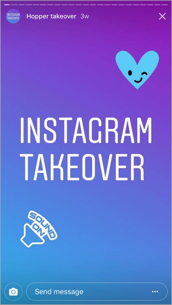 Instagram Takeover for Instagram stories