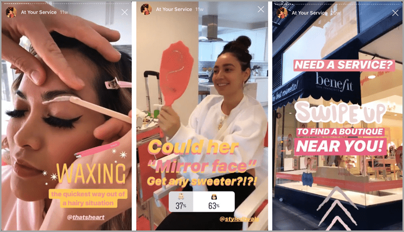 Instragram Stories sample for Instagram stories