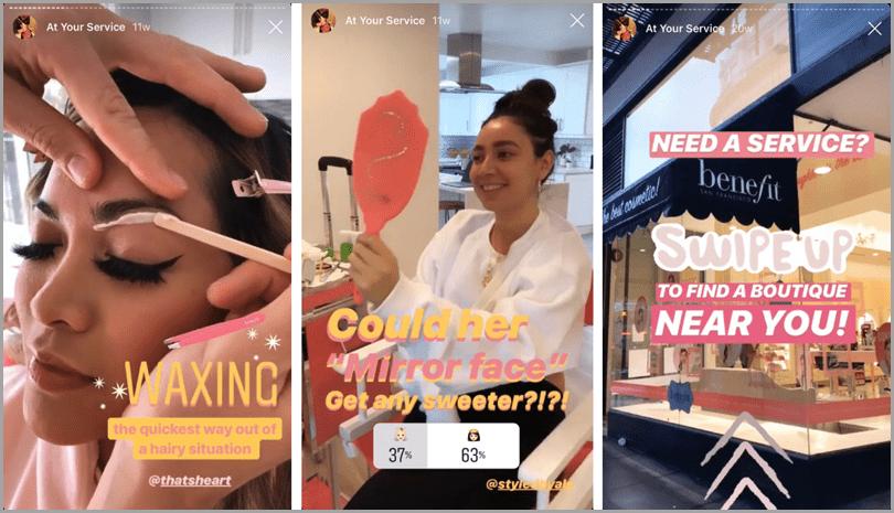 Instragram Stories sample for Instagram stories