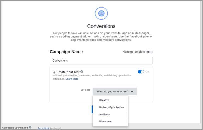 Hypothesis Split Test to reduce Facebook ad costs