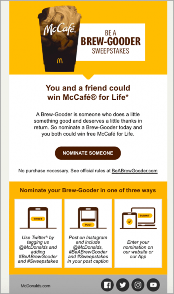 McCafe brew-gooder to enhance social media