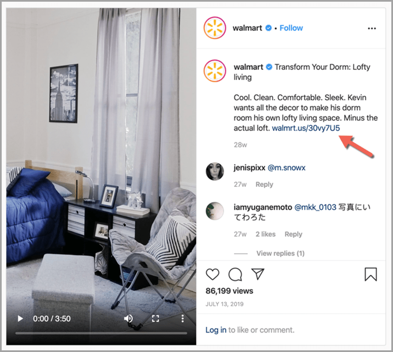 add links to IGTV descriptions in using IGTV