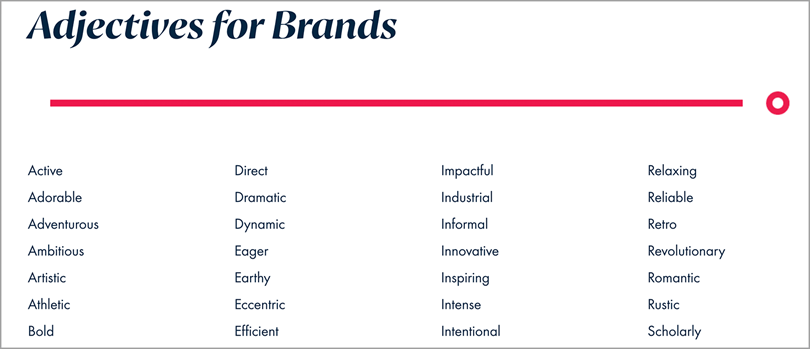 eliseeppdesign adjective for brands for brand identity