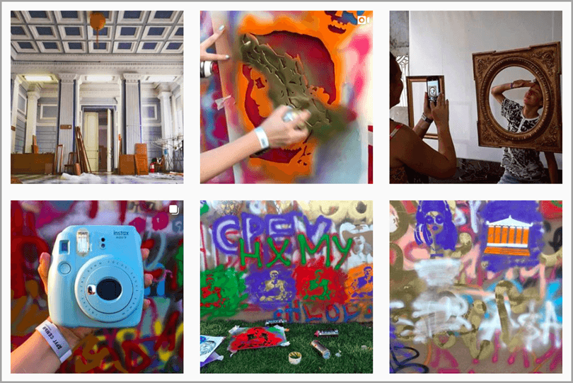 picture with camera and grafitti from namu_museum for social media rules