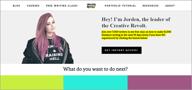 Creative Revolt Paid and Free Online Writing Class for Writing Output