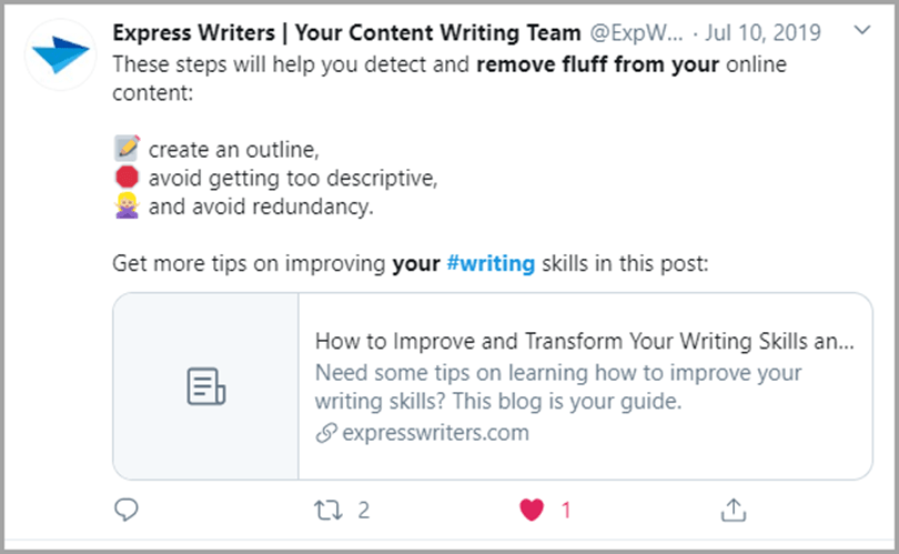 Express Writers Your Content Writing Team Remove Fluff Writing Output