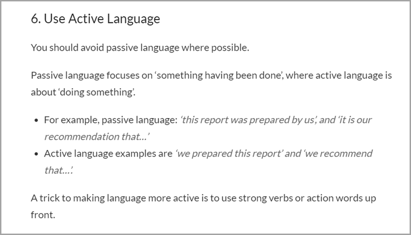 Frontload Your Sentences Use Active Language Writing Output