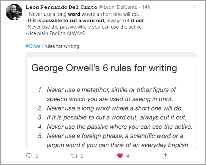 George Orwell's 6 Rules for Writing for an Excellent Writing Output