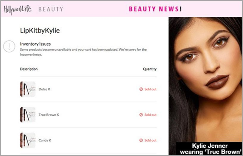 HollywoodLife Beauty news Kylie Jenner wearing 'Truebrown' for conversion optimization