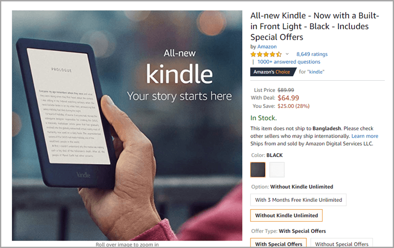 Reading Voraciously Amazon Kindle Sold on Amazon for Writing Output