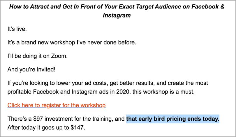 Rick Mulready Early Bird offre des remises ciblées sur le lancement de produits numériques