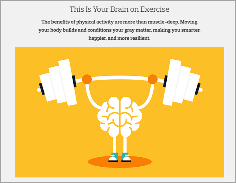 Start Moving, Keep Moving This Is Your Brain on Exercise Writing Output