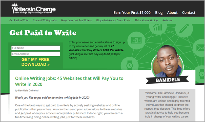 Writers in Charge Online Writing Jobs for Writing Output