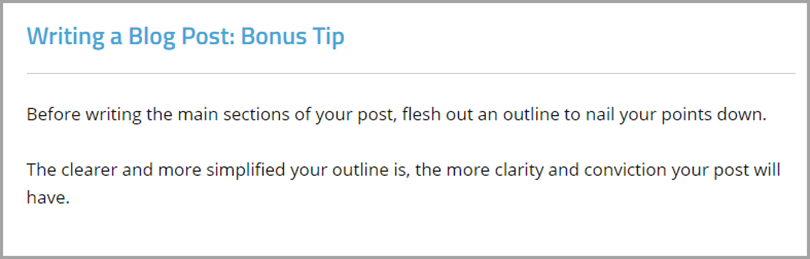 Writing Blog Post Bonus Tip Outline Before Writing for Writing Output
