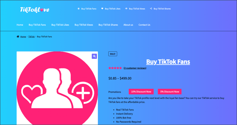 Buy TikTok Followers - TikTokLove