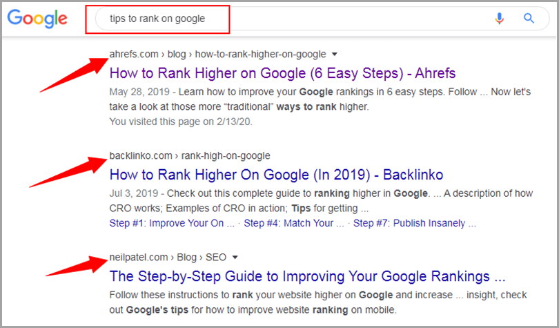 Keyword optimization Google search tips to rank on google with results