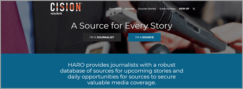 Low cost marketing tactics Cision's website HARO opportunities journalist and source
