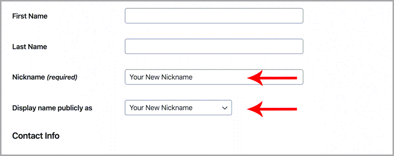 Protect your wordpress website setting new neckname in WordPress