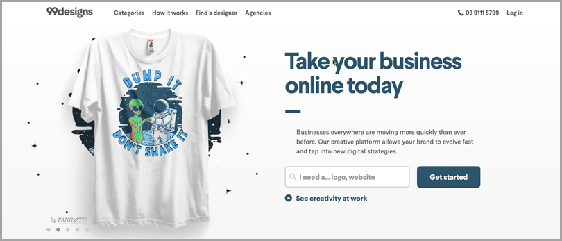 99Design online business tool for graphic designers making money online