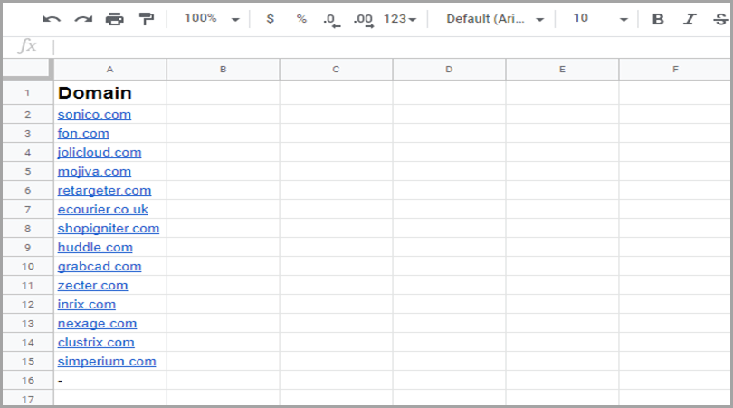 Adding the data into spreadsheet for cold outreach
