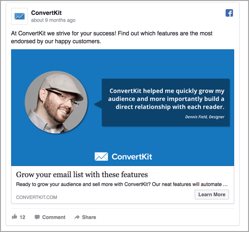 ConvertKit experiment with product promotion and content distribution for ecommerce sales funnel