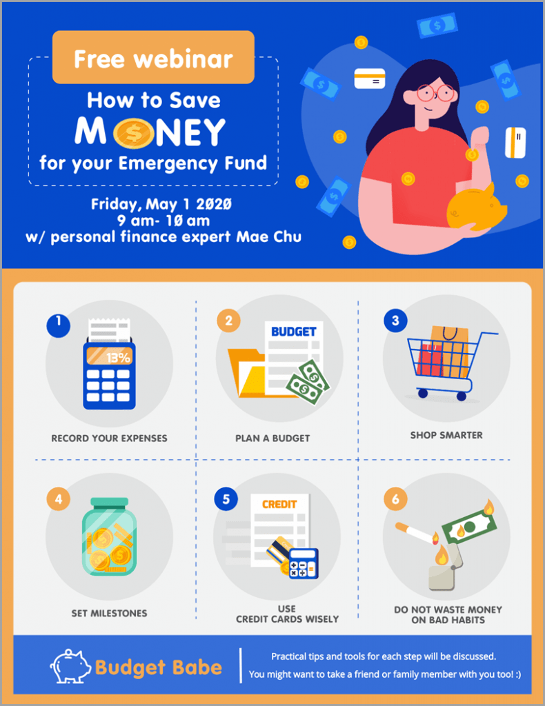 Free webinar on how to save money infographics to promote your webinar