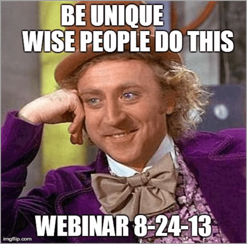 Inspirational quote about webinar to promote your webinar