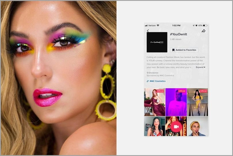MAC cosmetics #YouOwnIt challenge tiktok advertising