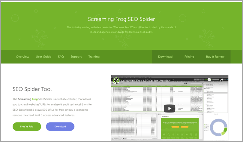 Screaming frog seo spider seo tools