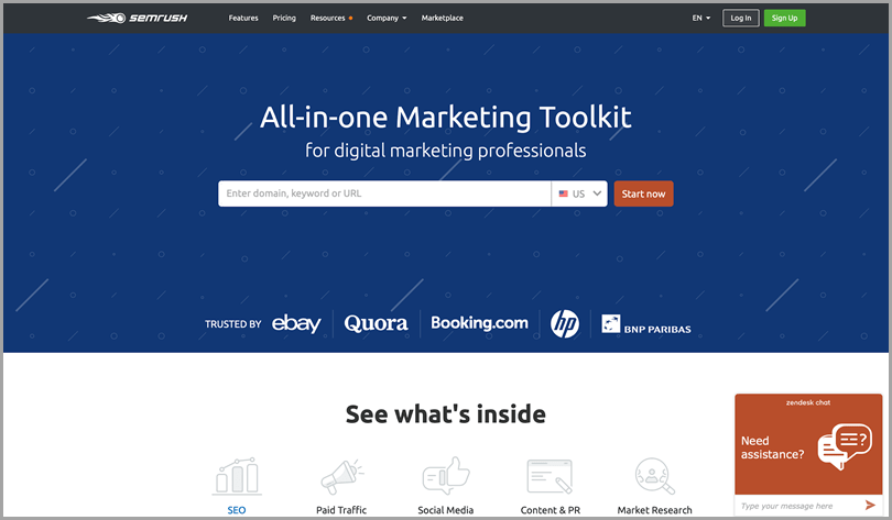 Semrush all-in-one marketing tool seo tools