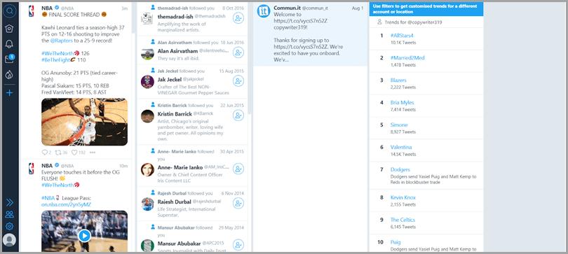 Tweetdeck management tool for Twitter