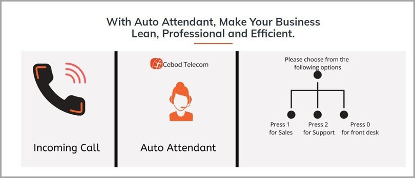 Upload promotional voice messages to an auto-attendant greeter for lead generation ideas