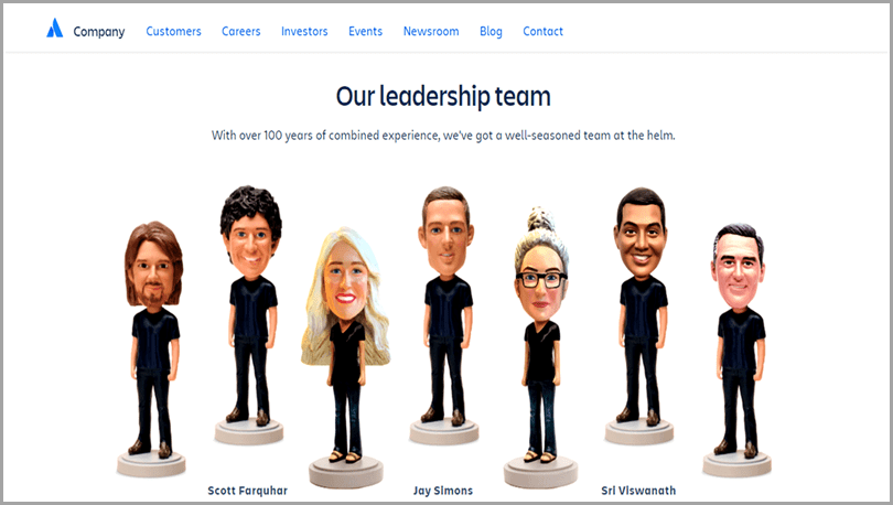 Atlassian's 'Meet the Team' offers a great example of how to humanize your brand