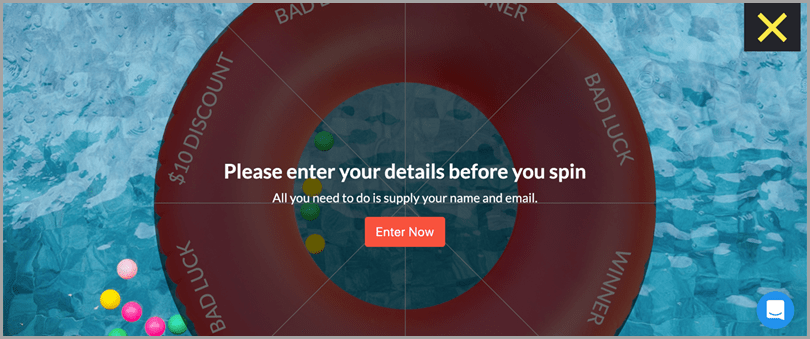 Create a spin the wheel game to generate sales leads