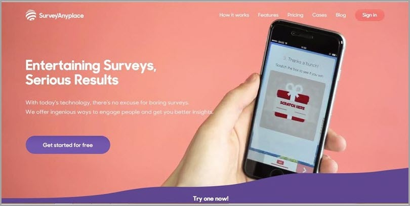 Create an awesome user experience using Survey Anyplace online lead quiz software