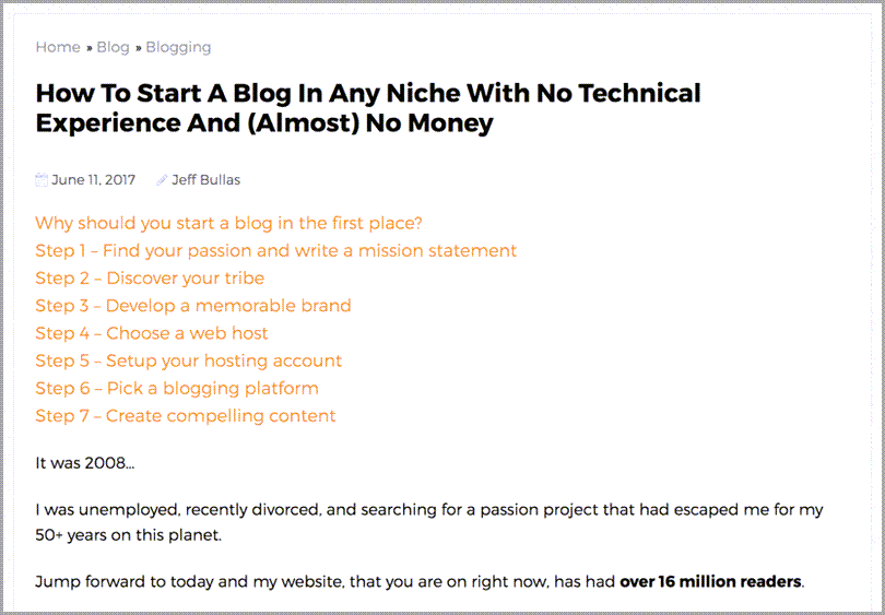 How to start a blog in any niche with no technical experience reference guide