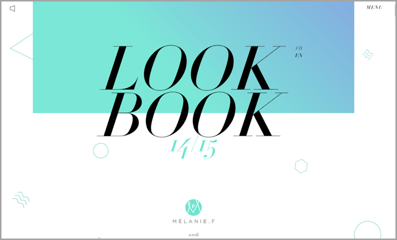 Look Book the use of gradient web design ideas