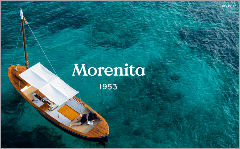 Morenita's site with uniqueness in web design ideas