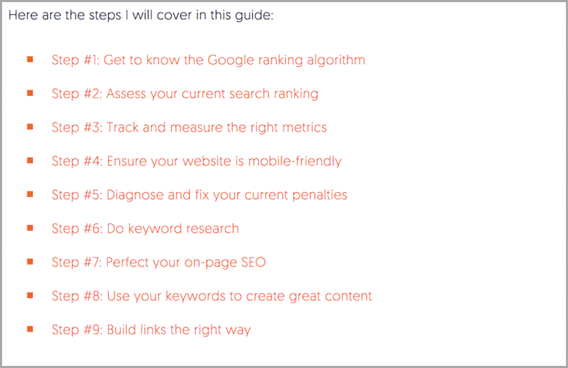 SEO and Ranking Sites in Google reference guide