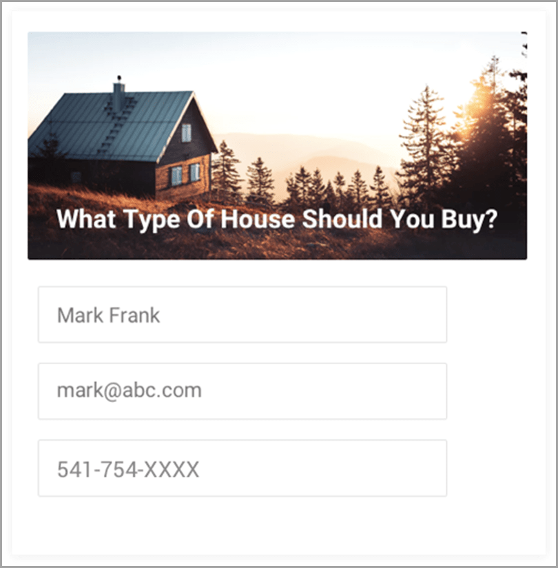 What Type of House You Should Buy Facebook Quiz Marketing for Qualifying Leads