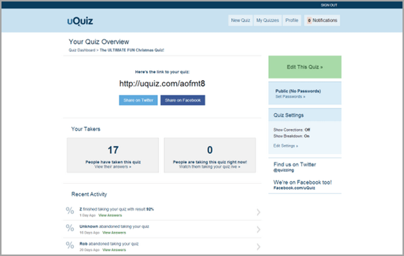 uQuiz online lead quiz software a simple quiz builder for capturing your audience