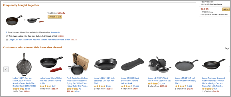 Amazon Frequently Bought Together Upselling Tactics