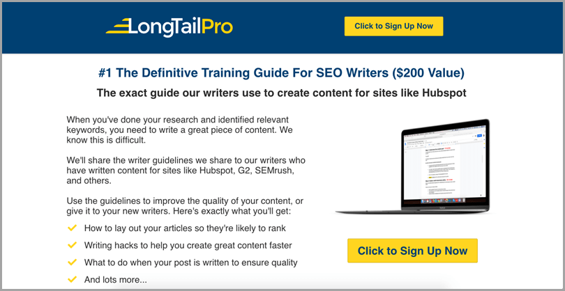 LongTail Pro Bonus Promotion for Affiliate Income