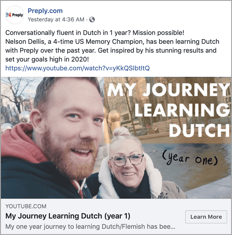 Preply.com Repurpose Content Sample My Journey Learning Dutch