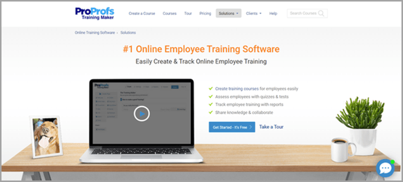 ProProofs Employee Training Software Working From Home Tool