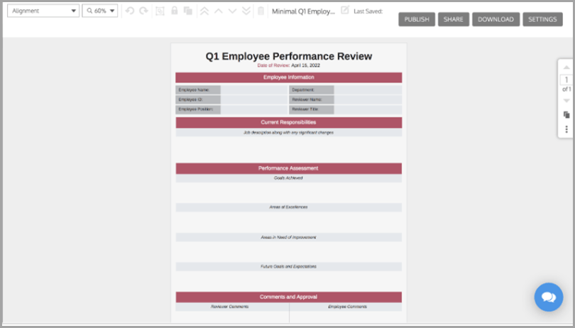 Time Management Q1 Employee Performance Review Mobile CRM